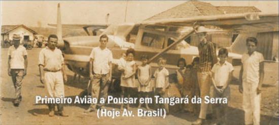 Primeiro Avião a Pousar em Tangará da Serra