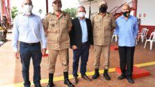 Vice-prefeito Marcos Scolari prestigia troca de comando do Corpo de Bombeiros de Tangará da Serra
