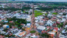 Imagem área de bairros de Tangará da Serra