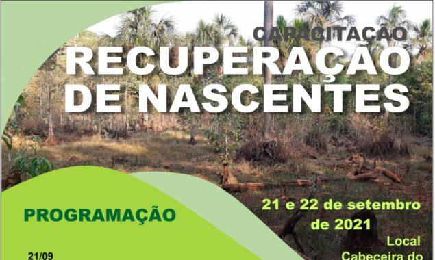 Especialistas oferecerão capacitação para recuperação de nascentes na cabeceira do Rio Queima-pé