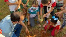 No Dia da Árvore, Secretaria de Meio Ambiente leva informações e conscientização à crianças de escolas munic