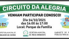 Circuito da Alegria: Prefeitura Municipal realiza festa para as crianças nesta quinta no Parque da Família