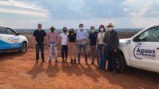 Equipe de Cáceres e promotora de Justiça conhecem sistema de coleta seletiva e de resíduos sólidos de Tangará